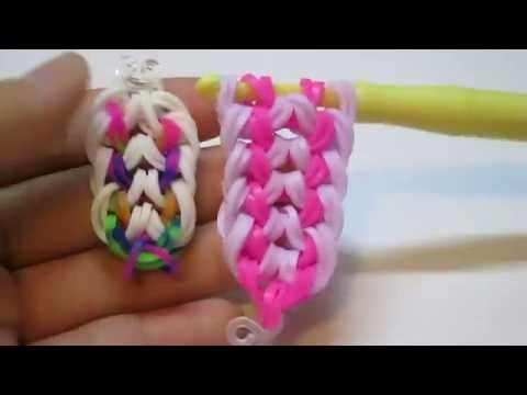 rainbow loom double dragon scale bracelet /hook only