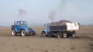 Агро Завалля переправка ГАЗ 3507 через болото  Т 150К