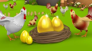 The Golden Egg Tamil Story - தங்க முட்டை தமிழ் கதை 3D Animated Moral Stories for Kids Fairy Tales