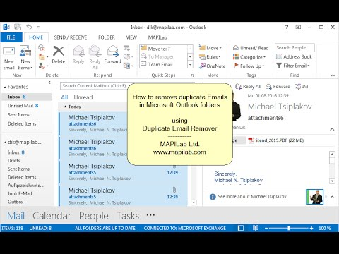 How to remove duplicate Emails in Outlook folders