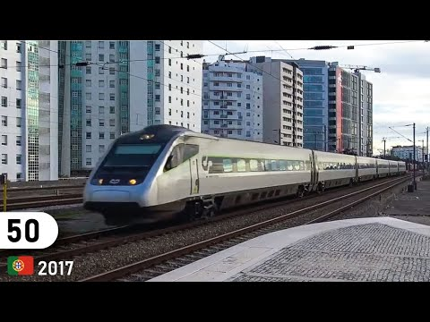 Portugal - CP train traffic in Lisbon