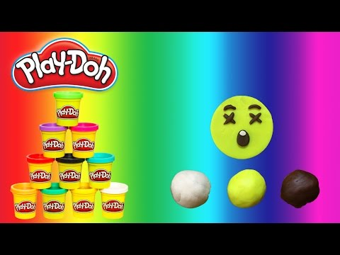 How to Make Play Doh Astonished Face - Emoji - Childrens' Song - PlayWithMe#10