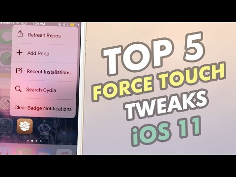 Top 5 3D Touch Tweaks -  iOS 11 / 11.1.2