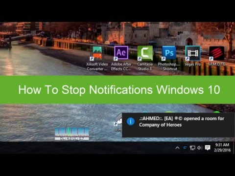 How To Stop Notifications Windows 10