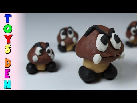How to Make Goomba Polymer Clay Tutorial Super Mario Play Doh Goomba Clay Tutorial