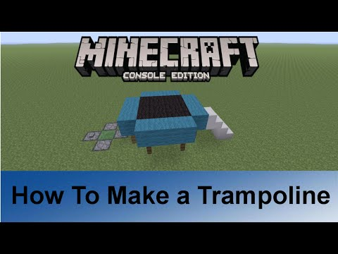 Minecraft PS3/PS4: How To Make a Trampoline
