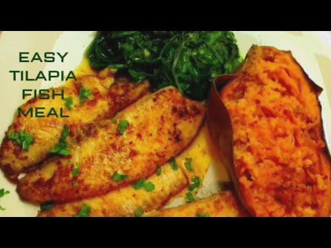 Pan-Seared Tilapia   With Garlic Butter Sauce