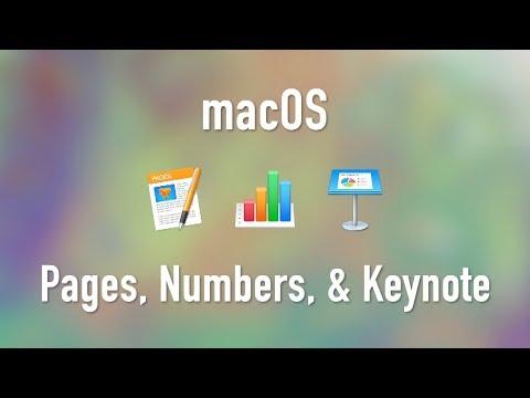 macOS: Pages, Numbers, and Keynote (iWork)