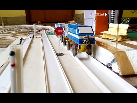 How to make a train tracks platform signal lights