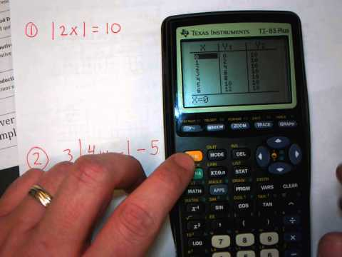 Solving absolute value using the TI83+