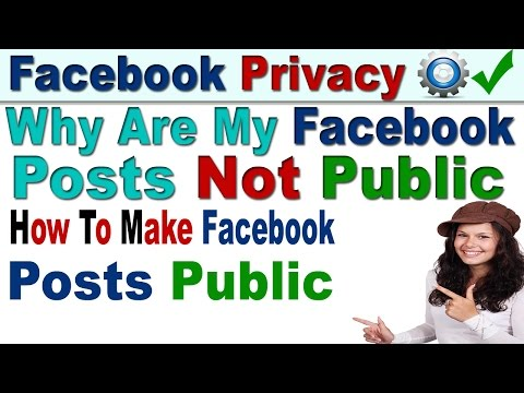 Why are My Facebook Posts Not Public and How To Set Posts Public In Hindi/Urdu-2017