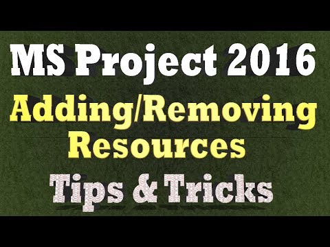 Adding and Removing Resources From a Task in Ms Project 2016 - Tips and Tricks 2018
