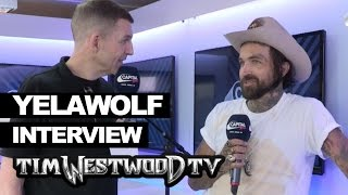 Yelawolf on new tattoos, coffee stained t-shirt design - Westwood