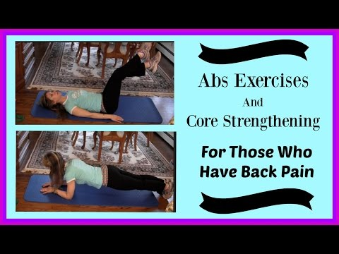 Abs and Core Abdominal Exercises: For Sufferers of Back Pain/Problems