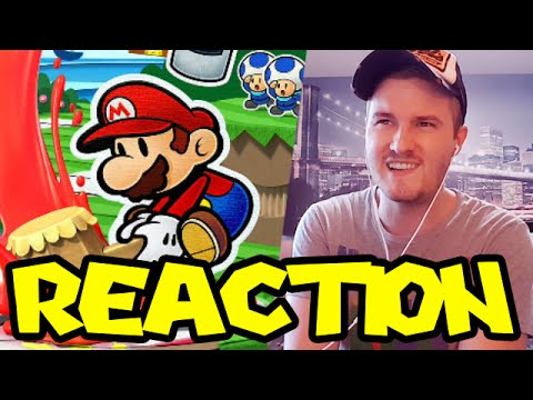 REACTION - Paper Mario Color Splash (Yikes...)