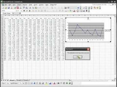Build charts in Excel automatically
