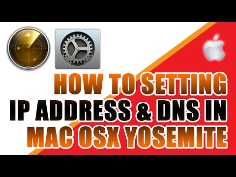Setting Network IP Address Mac OSX 10.10 (Wirelles or Ethernet)
