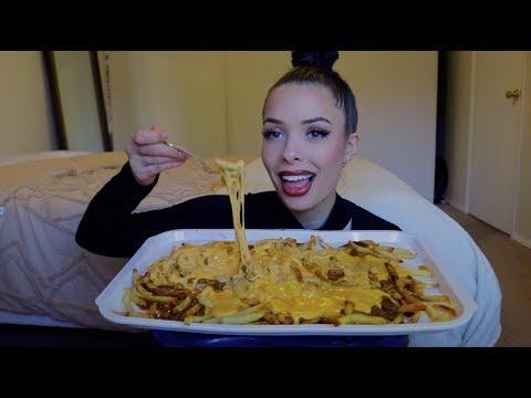 Chili cheese fries mukbang + story time