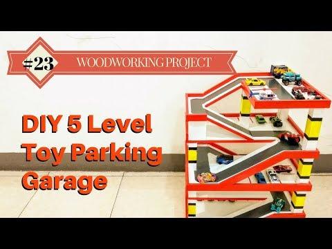 DIY 5 Level Toy Parking Garage
