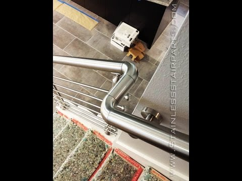 Stainless Steel Stair Parts Modern Stairs Glass & Cable