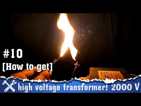A high voltage transformer out of microwave oven