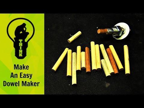 Make a homemade dowel maker