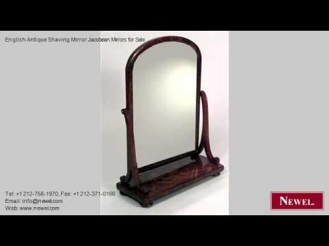 English Antique Shaving Mirror Jacobean Mirrors for Sale