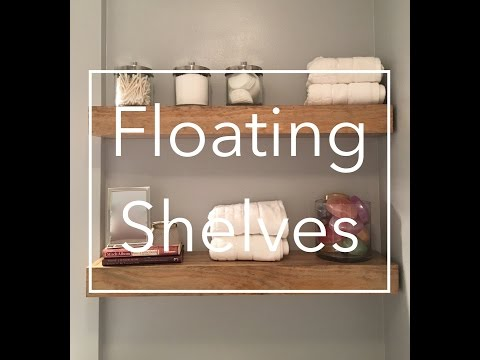 DIY Wooden Floating Shelves Using Pine and 2x4s