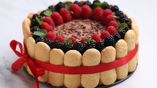 Download Showstopping Chocolate Berry Charlotte • Tasty Video