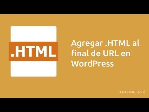 Agregar .HTML a URL en WordPress