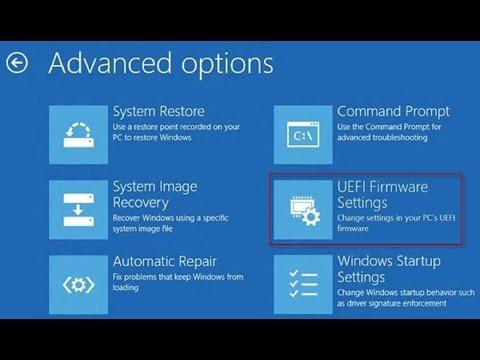 How to Access UEFI BIOS on Windows 10