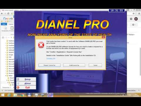 License Key Activation for the Dianel©Pro software English version