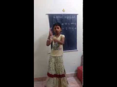 Teaching Tamil letters by Dance