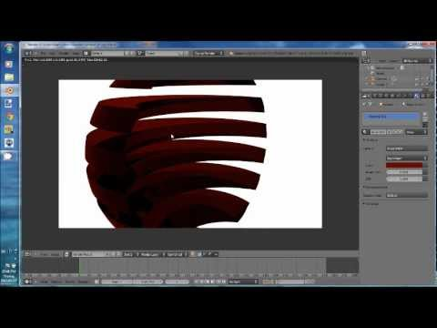 Tutorial: How to make a sphere cut up and red glass
