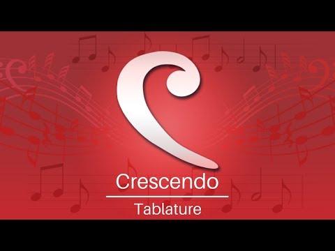 Crescendo Music Notation Tutorial   Tablature