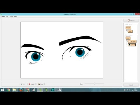 How to Make Eye Movement Follow Mouse Position in Greenfoot