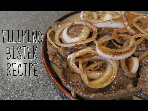 FILIPINO BISTEK RECIPE (BEEF STEAK)