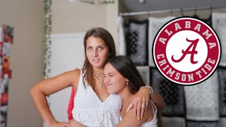moving my sister into her first college dorm *university of alabama*