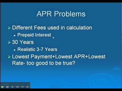 Mortgage APR- Calculating and Evaluating