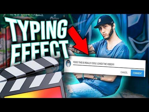 FaZe Banks YouTube Typing Effect - Final Cut Pro X Tutorial