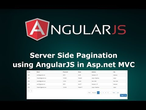 Server Side Pagination using AngularJS in Asp.net MVC with Stored Procedure