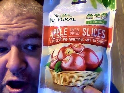 So natural freeze dried apple slices (dollar tree item)