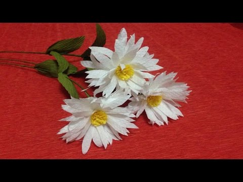 How to Make Daisy Tissue Paper Flowers - Flower Making of Tissue Paper - Paper Flower Tutorial
