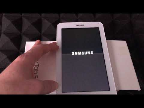 """How to Restore to Factory Settings - Samsung Galaxy Tablet 7"""" 8G - Delete all information"""