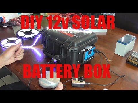 DIY 12v solar battery box and solar panel