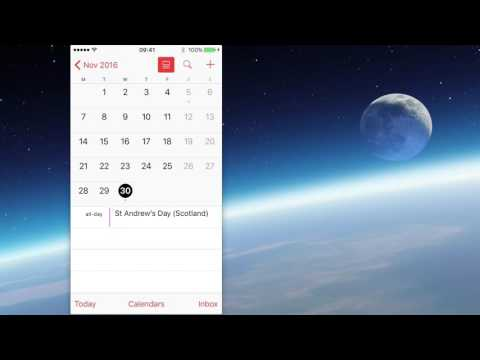 How to navigate the Apple Calendar app and use the Travel Alert Feature