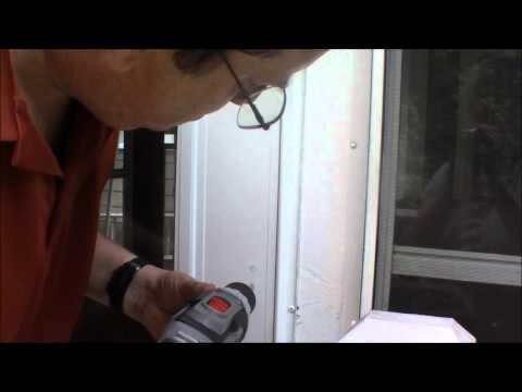 Storm door installation  Part 2 installing the prepared door