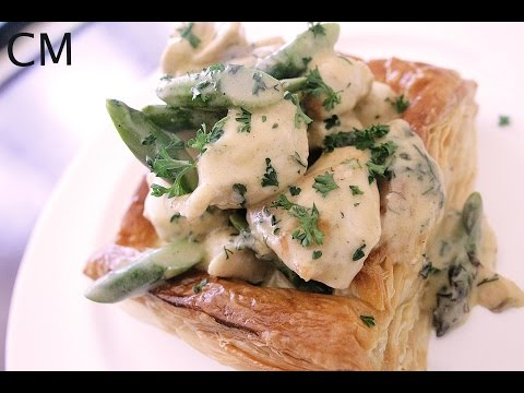 Chicken and asparagus Vol au Vent