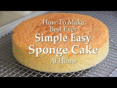 How To Make Simple Easy Sponge Cake Recipe | Sponge Cake Recipe At Home! |