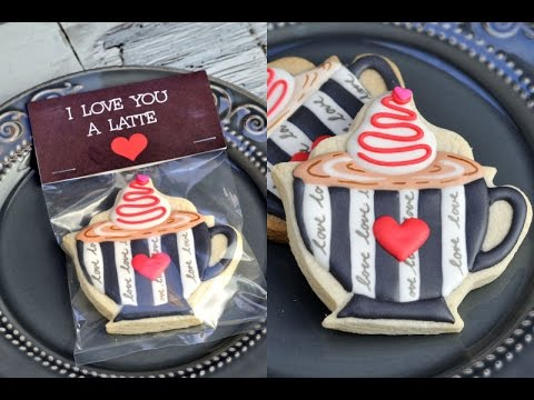 COFFEE CUP COOKIES, I LOVE YOU A LATTE, HANIELA'S